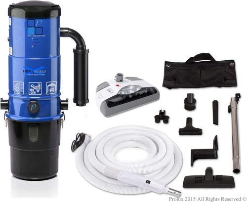 Prolux CV12000 Central Vacuum Unit System with White Electric Hose Power Nozzle Kit and 25 Year Warranty