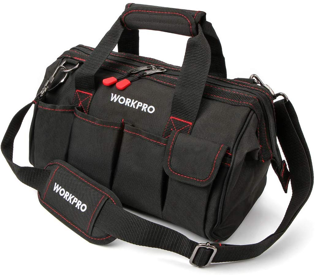 WORKPRO 15-inch Tool Storage Bag - Tool Bags for Plumbers