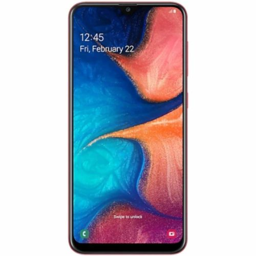 """Samsung Galaxy A20 32GB A205G/DS 6.4"""" HD+ 4,000mAh Battery LTE Factory Unlocked GSM Smartphone (International Version, No Warranty) (Red) - Cheap Gaming Phone"""