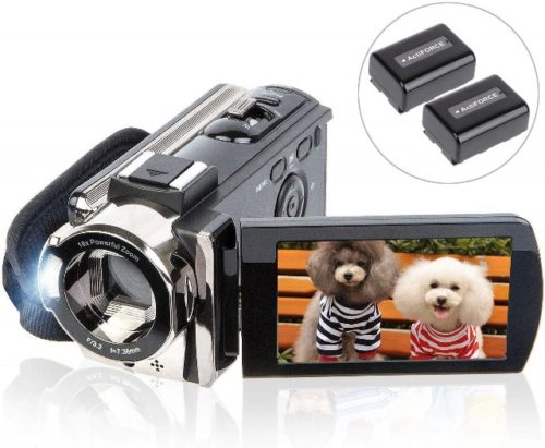 Video Camera Camcorder Digital YouTube Vlogging Camera Recorder kicteck Full HD 1080P 15FPS 24MP 3.0 Inch 270 Degree Rotation LCD 16X Digital Zoom Camcorder with 2 Batteries(604s) - Professional Video Cameras
