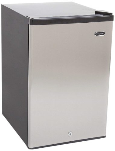 Whynter CUF-210SS Energy Star 2.1 cubic feet Upright Freezer Stainless Steel door with Security Lock with Reversible Door