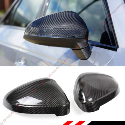 Cuztom Tuning Fits for 2017-2019 Audi B9 A4 S4 A5 S5 RS5 Add on Style Carbon Fiber Side Wing Mirror Cover Without Lane Assist