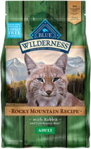 Blue Buffalo Wilderness Rocky Mountain Recipe High Protein Grain Free, Natural Adult Dry Cat Food, Rabbit 4-lb