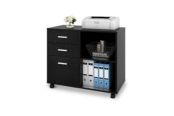 DEVAISE 3-Drawer Wood File Cabinet - Office Storage Cabinets