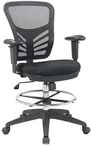 Hercke Mesh Back Reception office chairs with no wheels