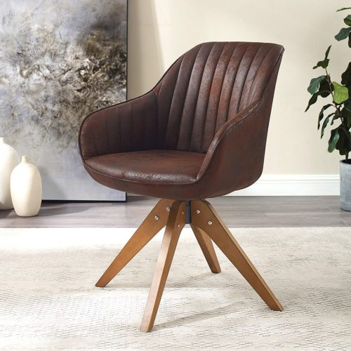 Art Leon Swivel Accent office chairs with no wheels
