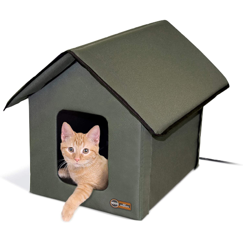 K&H Pet Products Outdoor Heated Kitty House - Insulated Outdoor Cat Houses