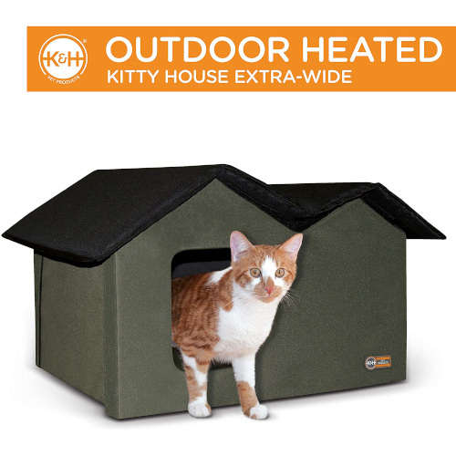 K&H PET PRODUCTS Insulated Outdoor Cat Houses - Insulated Outdoor Cat Houses