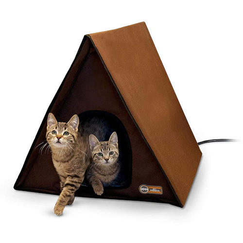 K&H Pet Products Outdoor Multi-Kitty A-Frame (Heated & Unheated) - Insulated Outdoor Cat Houses