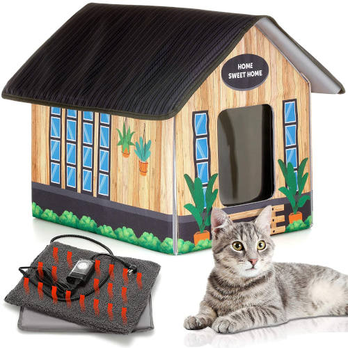 PETYELLA Outdoor Cat House - Insulated Outdoor Cat Houses