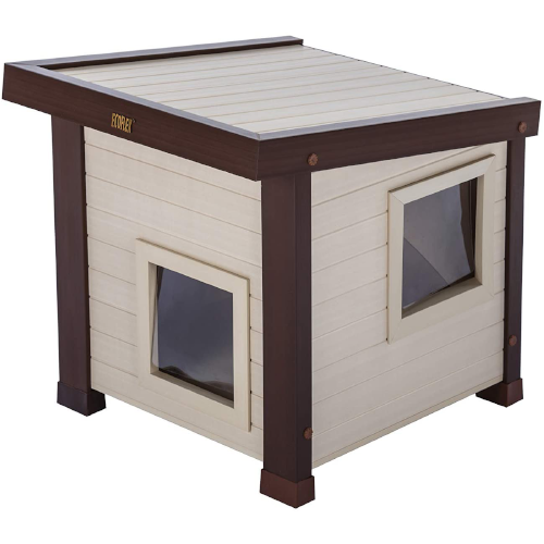 ecoFLEX Albany Insulated Outdoor Cat Houses - Insulated Outdoor Cat Houses