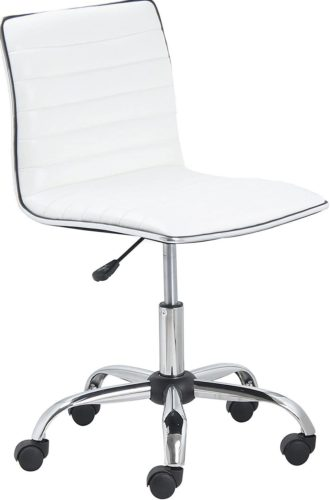 BTExpert Leather Swivel Chair - White Office Furniture