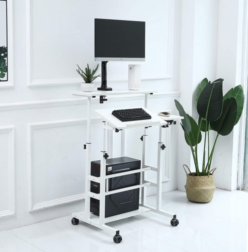 UNICOO Stand Up Computer Desk - portable standing desk